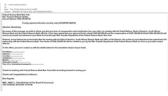 Phishing Attacks via E-Mail: Do Not Open