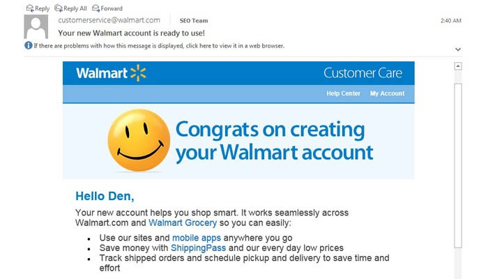 Wait I Never Opened An Online Shopping Account At Walmart Instabill